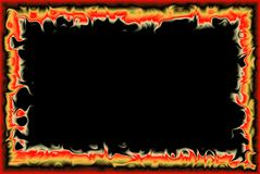 Fire frame. Frame of fire flames with some transparency for pictures royalty free stock images