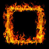 Fire frame. Abstract fiery background Stock Image