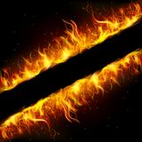 Fire Frame Stock Photography