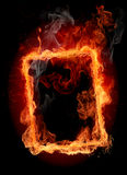 Fire frame. Abstract fiery background royalty free stock image