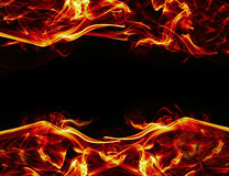 Fire frame background Royalty Free Stock Image