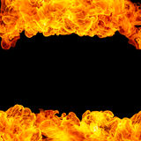 Fire Frame Background Stock Photo