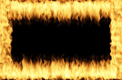 Fire frame. On the black background Royalty Free Stock Photography