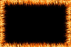 Fire frame. On the black background Royalty Free Stock Image
