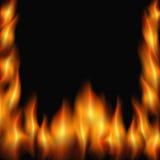 Fire frame. On a black background. vector illustration Stock Photo
