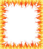 Fire frame. Fire flame frame on white background Royalty Free Stock Photos