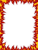 Fire frame. Flames on edges. Flame background.  Stock Photo