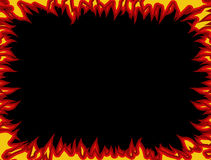 Fire frame. Flames on edges. Flame background.  Stock Photography