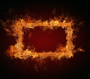 Fire frame Royalty Free Stock Photography