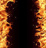 Fire frame Royalty Free Stock Images