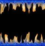 Fire frame. Isolated on black background Royalty Free Stock Images