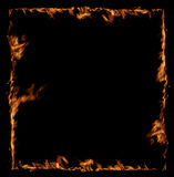 Fire frame isolated. On black background Stock Photos