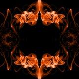Fire frame made of smoke Stock Photos
