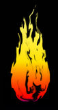 Fire frame vector with black background Stock Image