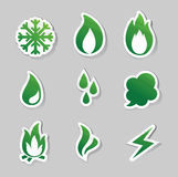 Fire, freeze, steam, water icons. Vector Illustration of  fire, freeze, steam, water icons Royalty Free Stock Photography