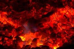 Fire in the furnace. Red Fire in the furnace Royalty Free Stock Photo