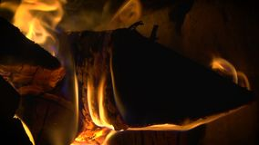 Fire in the furnace stock video footage