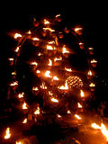 Fire Garden At River Thames Festival Royalty Free Stock Photo