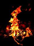 Fire in garden stock image