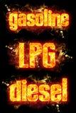 FIre Gasoline LPG Diesel Royalty Free Stock Image