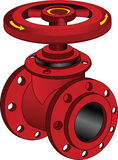Fire Gate Valve Stock Photo