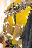 Fire Gear. Fire Fighter's Gear in the Fire House Royalty Free Stock Photos