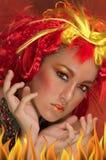 Fire Girl Stock Photos