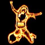 Fire girl Royalty Free Stock Photos