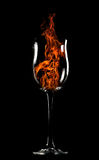 Fire in a glass Stock Images