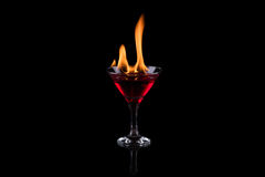 Fire in the glass Stock Photography