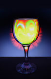 Fire in the glass. Stock Photography