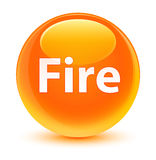 Fire glassy orange round button Royalty Free Stock Photography