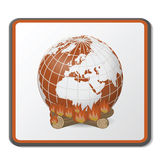 Fire Globe. Isolated on white Stock Photography