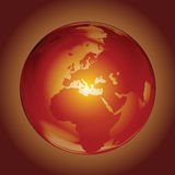 Fire Globe. Burning globe illustration clip art Royalty Free Stock Photos