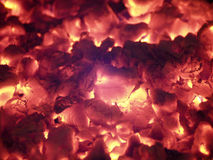 Fire Glow. From an campfire Stock Photos