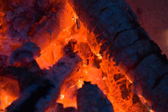 Fire Glow. Campfire closeup in high resolution Stock Photos