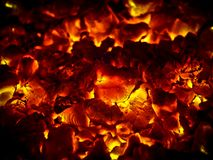 Fire Glow Stock Image