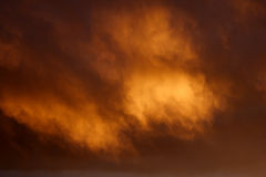 Fire Gold Magical Clouds Stock Photography