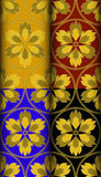 Fire gold pattern Royalty Free Stock Image
