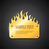 Fire gold sign. Metal fire gold sign eps10 Royalty Free Stock Images