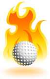 Fire Golfball - 3D. An image of flame with shadow with 3D golf ball Stock Photography