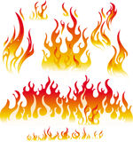 Fire graphic elements. On white background Royalty Free Stock Images