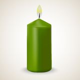 Fire green vector candle isolated. On white background Royalty Free Stock Photography