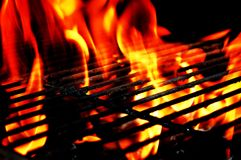 Fire and grill Royalty Free Stock Photo
