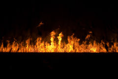 Fire on the ground Royalty Free Stock Photos