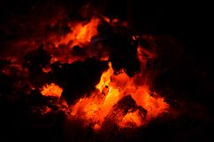 Fire on the ground Royalty Free Stock Photography