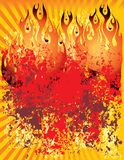 Fire Grunge Background Royalty Free Stock Photos