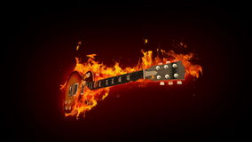 Fire guitar stock video