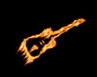 Fire guitar background Stock Photos