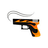 Fire Gun and Weapon Vector. And Icon Stock Image